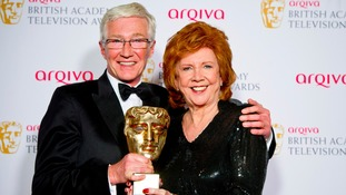 Cilla Black with Paul O'Grady.