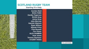 The full Scotland team.