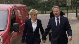 Julie and Tony Wadsworth arriving at Warwick Crown Court.