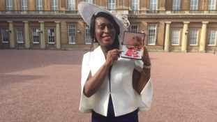 Marcia Shakespeare collected an MBE at Buckingham Palace