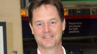 Nick Clegg becomes unexpected star of US airport's maintenance poster