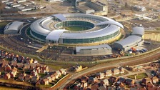 An aerial view of GCHQ in Cheltenham