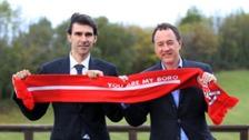 Steve Gibson (left) insists he did not sack Aitor Karanka
