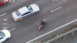 Phone thief rides wrong way down M11 in high-speed police chase