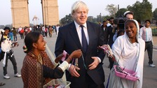 Boris Johnson at India Gate.