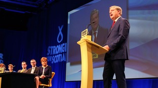 Angus Robertson addresses the SNP spring conference.
