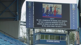 The image that will be displayed at Hillsborough tonight.