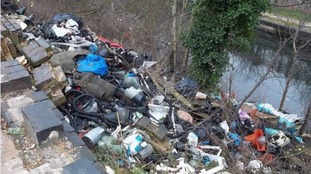 Fly-tipping in South Birmingham.