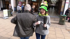 Getting into the spirit of the Irish jig with Aisling.