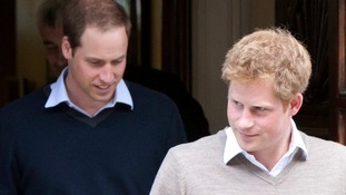 Prince William with Prince Harry