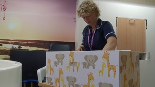 Colchester Hospital has handed out 700 baby boxes to new parents since last October