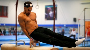 Louis Smith during a training session ahead of Rio 2016.
