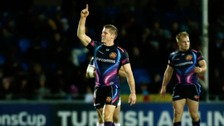 Exeter Chiefs' Gareth Steenson celebrates.