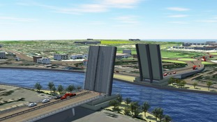 An artist's impression of the proposed bridge in Great Yarmouth.