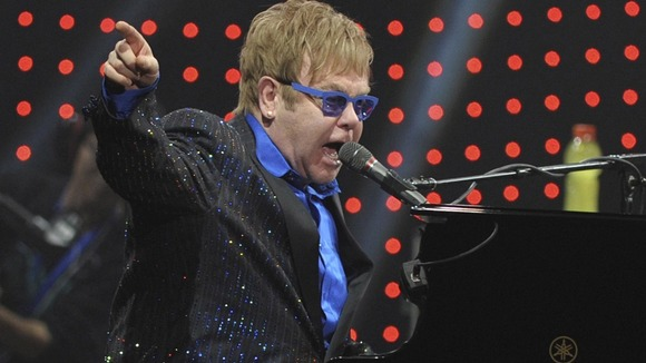 Elton John performs in Beijing