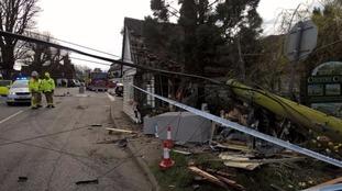 Goudhurst Rd - lorry hits building
