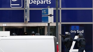 Police at Paris Orly Airport