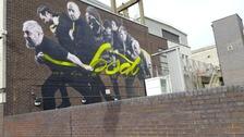 The mural created by Polish artist Yola.