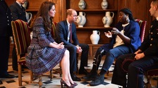 The Duke and Duchess of Cambridge met victims of the Bataclan and Nice attacks.