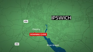 The girl was approached near Downing Close in Ipswich.