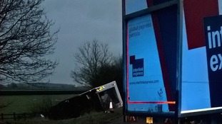 M40 lorry collision