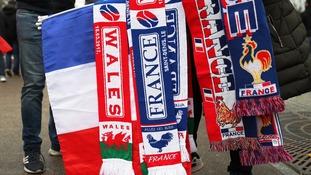 France v Wales scarves