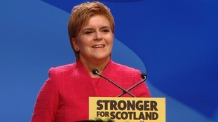 Nicola Sturgeon addresses the SNP Spring Conference.