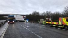 Scene of accident at M40