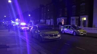 Police near Finsbury Park.