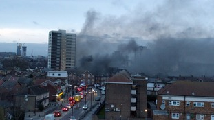 Buildings evacuated amid huge fire in busy high street in Plaistow