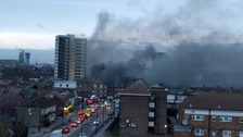 Buildings evacuated amid huge fire in busy high street in Plaistow.