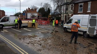 Severn Trent are on site