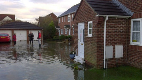 Fifty homes have been evacuated due to flooding in Worle just outside Weston-super-Mare.