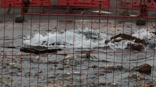 Emergency services were called to the Chester Green area of Derby after a burst water main flooded the area.