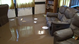 Homes flooded