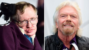 Scientist Stephen Hawking received the offer from Sir Richard Branson.