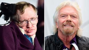 Stephen Hawking plans to travel into space on Sir Richard Branson's Virgin Galactic