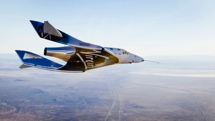 Handout photo issued by Virgin Galactic of the Virgin Spaceship Unity (VSS Unity).
