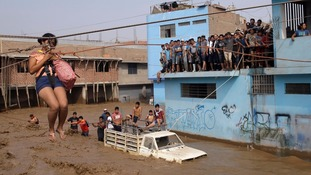 Dozens killed and thousands left homeless in Peru floods