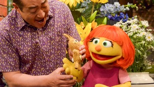 Julia will make her Sesame Street debut on April 10.