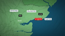 The man was stabbed in St Osyth.