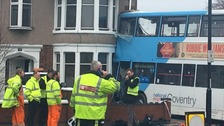 Photo of the bus crash in Coventry