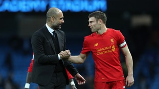 Pep Guardiola hailed his City team for coming back to claim a point after James Milner's penalty put Liverpool ahead.
