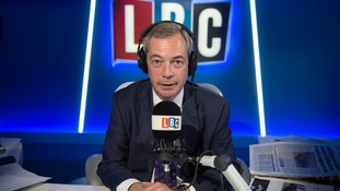 Nigel Farage investigated by Ofcom after rape comments on LBC show
