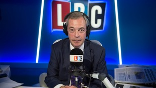 Farage has been hosting a radio show on LBC since January.