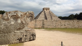 At Chichén Itzá in Mexico, the rising sun transforms one edge of the giant pyramid into a blazing serpent.