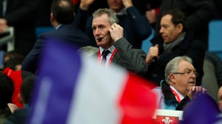 Wales interim head coach Rob Howley during the RBS 6 Nations match at the Stade de France, Paris