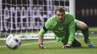 Manuel Neuer was beaten three times by England in the 2016 friendly in Berlin.