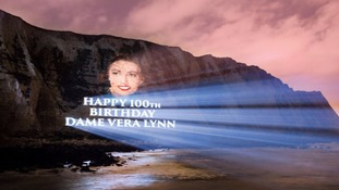 Dame Vera's 100th birthday tribute on the White Cliffs of Dover