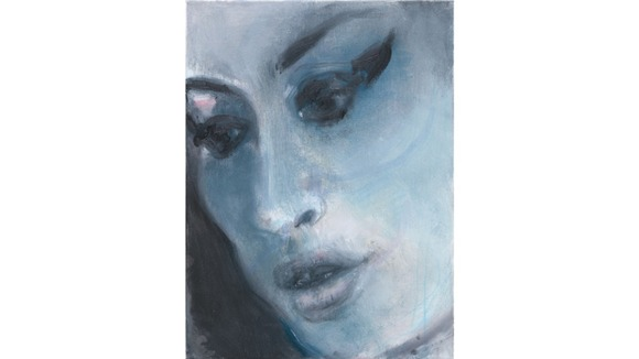 Amy-Blue is painted in hues of blue and black